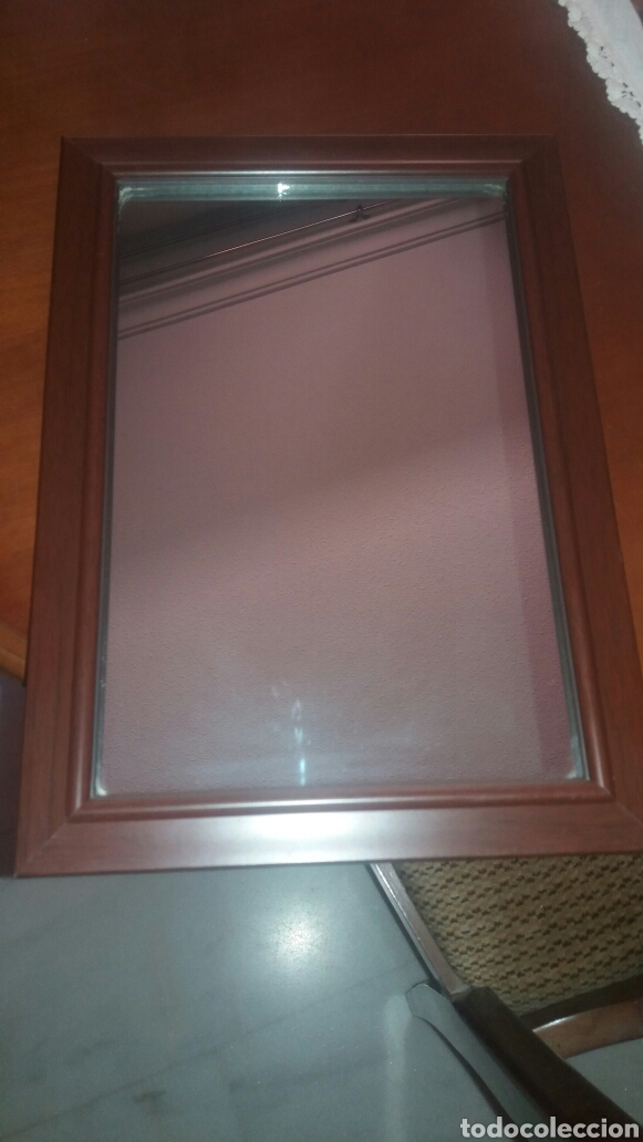 espejo enmarcado (marco en madera) - Comprar artículos de segunda ...