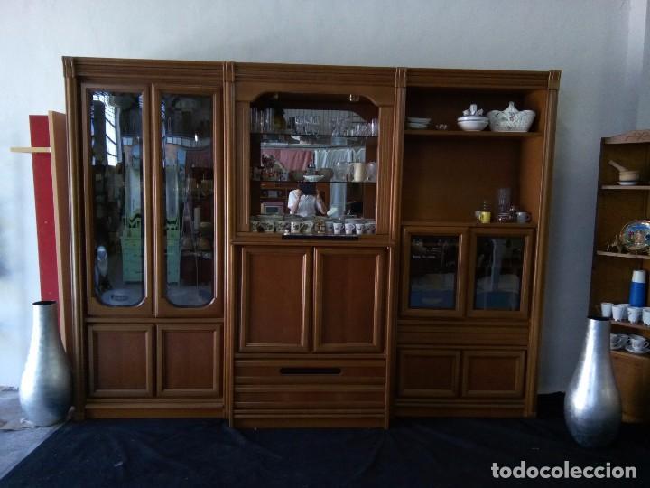 mueble salón madera nogal, para televisión, mús - Comprar artículos ...