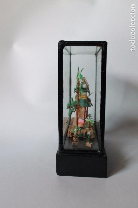 Segunda Mano: Diorama paisaje chino de corcho antiguo. 15x15 cm lateral ancho 5 cm. - Foto 3 - 93354980