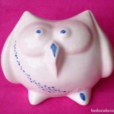 Segunda Mano - Figura porcelana Buho Blanco y azul vintage - 94033955