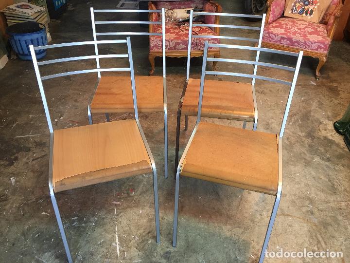 4 sillas cocina de hierro y asiento atornillado - Comprar artículos ...