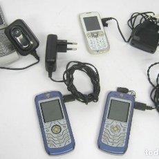 Segunda Mano: LOTE 4 TELEFONOS MOVILES CON CARGADORES MOTOROLA NOKIA. Lote 94234670