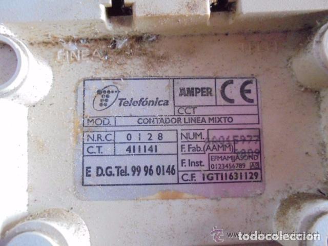 Segunda Mano: CONTADOR DE LINEA MIXTO O MARCAPASOS DE LA C.T.N.E. COMPAÑÍA TELEFÓNICA NACIONAL DE ESPAÑA 100%ORIGI - Foto 3 - 95040255