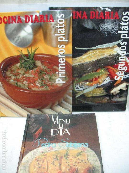 lote de 3 libros de cocina cocina diaria pedro - Comprar en ...