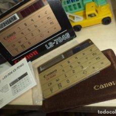 Segunda Mano: CALCULADORA DE BOLSILLO EXTRAPLANA SOLAR.CANON LS - 704G.MADE IN JAPAN 1983.. Lote 98073199