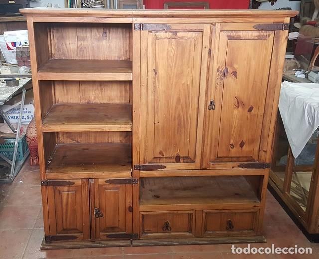 mueble de salón en madera de pino. - Comprar artículos de segunda ...