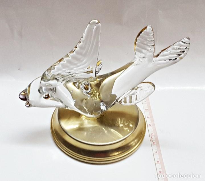 Segunda Mano: Adorno de pez de cristal con soporte de metal. - Foto 2 - 100092851