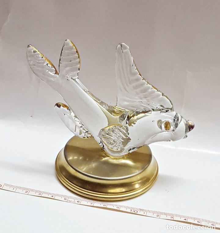 Segunda Mano: Adorno de pez de cristal con soporte de metal. - Foto 3 - 100092851