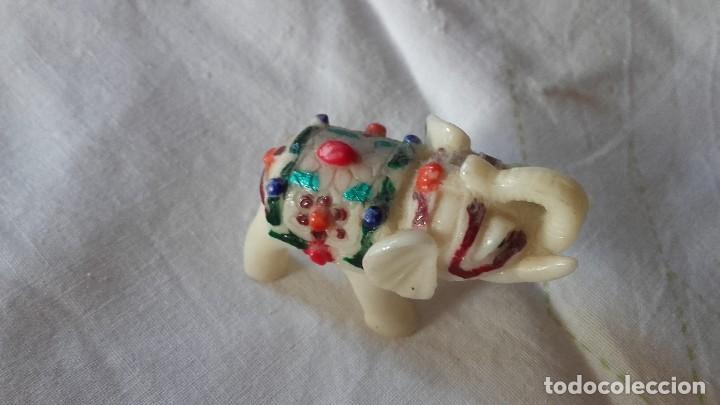 Segunda Mano: Pequeño elefante de la suerte de resina,muy colorido. - Foto 2 - 100995047