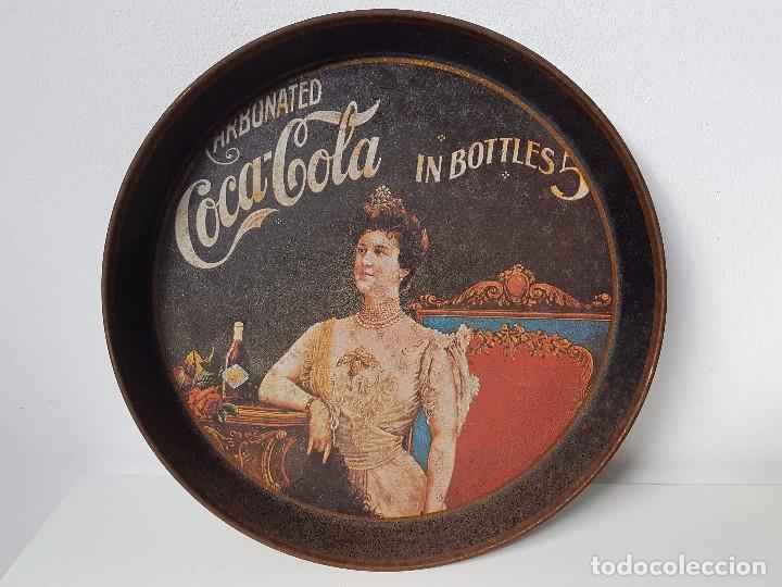 BANDEJA PUBLICIDAD COCA COLA ( REPRODUCIÓN DE LOS AÑOS 10/20 ) (Segunda Mano - Hogar y decoración)