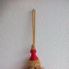 Zweite Hand - Borla para cortina, mueble antiguo.. alzapaños. Raffhalter curtain tie back. Alzapaño.Rojo y dorado - 102277639