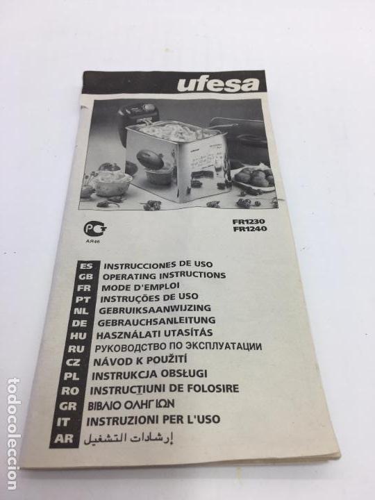 Segunda Mano: FREIDORA DOMESTICA UFESA MODELO FR1230/01 1800W. - Foto 8 - 102899107