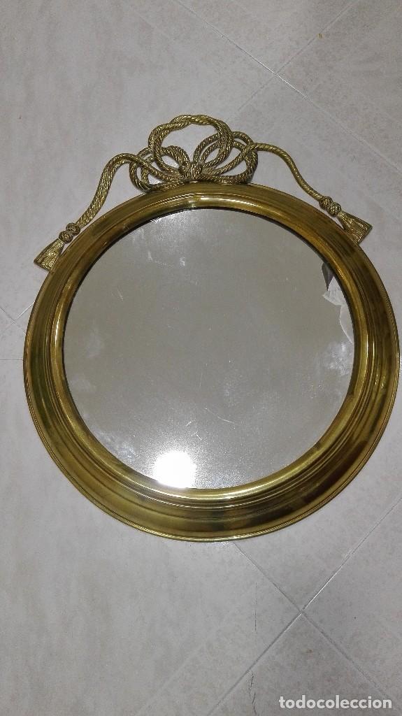 Segunda Mano: Espejo de latón muy decorativo - Foto 2 - 103168591