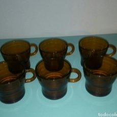 Segunda Mano: SEIS TAZAS CAFE AMBAR. Lote 104102070