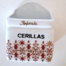 Segunda Mano: CERILLERO PORTA CERILLAS PONFERRADA CERÁMICA PORCELANAS FRAESPA PAMPLONA. Lote 104808623