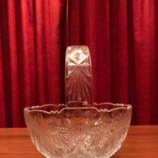 Segunda Mano: CESTO DE CRISTAL DE BOHEMIA. Lote 105627115