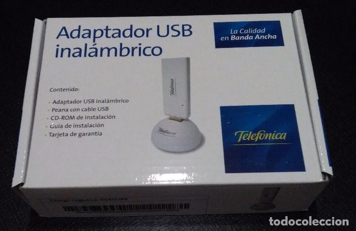 ADAPTADOR USB INALAMBRICO - TELEFONICA - WINDOWS XP/VISTA (Segunda Mano - Artículos de electrónica)