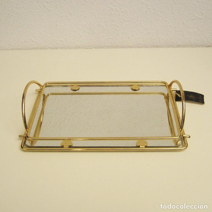 pequeña bandeja con espejo y baño de oro de 24 - Comprar artículos ...