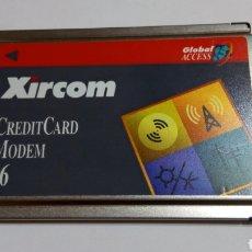 Segunda Mano: TARJETA PCMCIA CARDBUS DE MODEM 56 MARCA XIRCOM MODELO CM-56G PARA PORTÁTIL. Lote 107910702