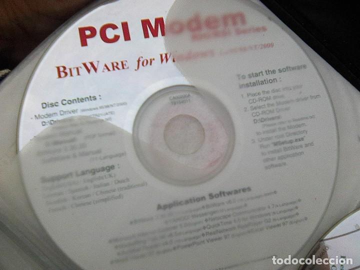 DISCO CD ... PCI MODEM BIT WARE FOR WINDOWS APPLICATION SOFTWAREES (Segunda Mano - Artículos de electrónica)