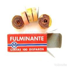 Segunda Mano: CAJA DE FULMINANTES MIXTOS DE PÓLVORA 6 CINTAS ROLLOS 100 DISPAROS. AÑOS 60 - 70. Lote 125104730
