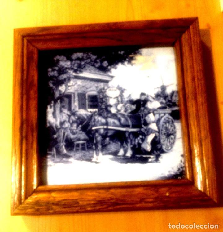 Segunda Mano: Azulejo con paisaje holandes enmarcado - Foto 2 - 110814891