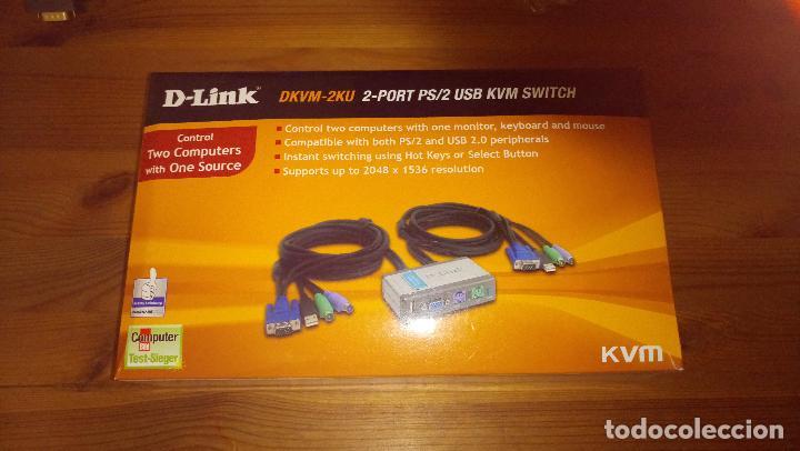 DLINK - CONTROLADOR PARA DOS COMPUTADORAS PC (Segunda Mano - Artículos de electrónica)