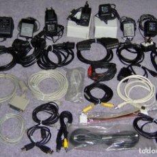 Segunda Mano: LOTE 8 FUENTES ALIMENTACIÓN-ADAPTADORES-CARGADORES AC/DC + CABLES Y ACCESORIOS RJ45 RCA USB IDE SATA. Lote 111439015