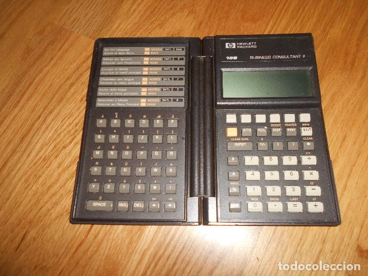 CALCULADORA HEWLETT PACKARD HP 19B AMERICANA 19 B RARA FUNCIONANDO RARA DOS MODULOS (Segunda Mano - Artículos de electrónica)