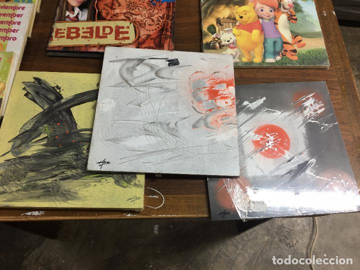 Segunda Mano: LOTE DE 30 TABLAS ó CUADROS DE MADERA IMPRESA - RESTOS DE TIENDA - Foto 2 - 112573091