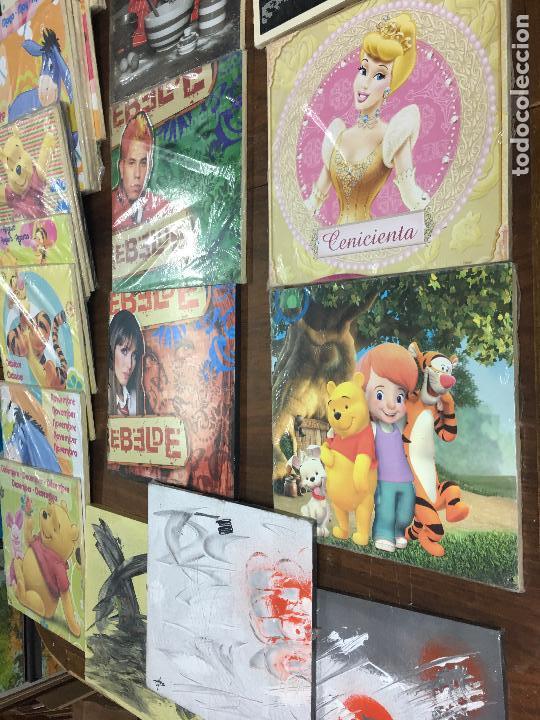 Segunda Mano: LOTE DE 30 TABLAS ó CUADROS DE MADERA IMPRESA - RESTOS DE TIENDA - Foto 16 - 112573091