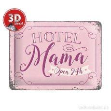 Segunda Mano: 26197 PLACA METALICA 15X20 HOTEL MAMA DECORACION VINTAGE 50'S NOSTALGIC ART. Lote 113045435