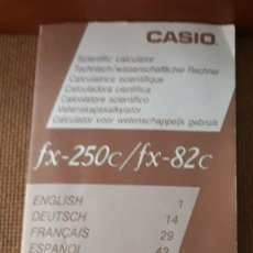 Segunda Mano: MANUAL DE USO CALCULADORA CIENTIFICA - INSTRUCCIONES - CASIO FX-250C/FX-82C. Lote 114016527