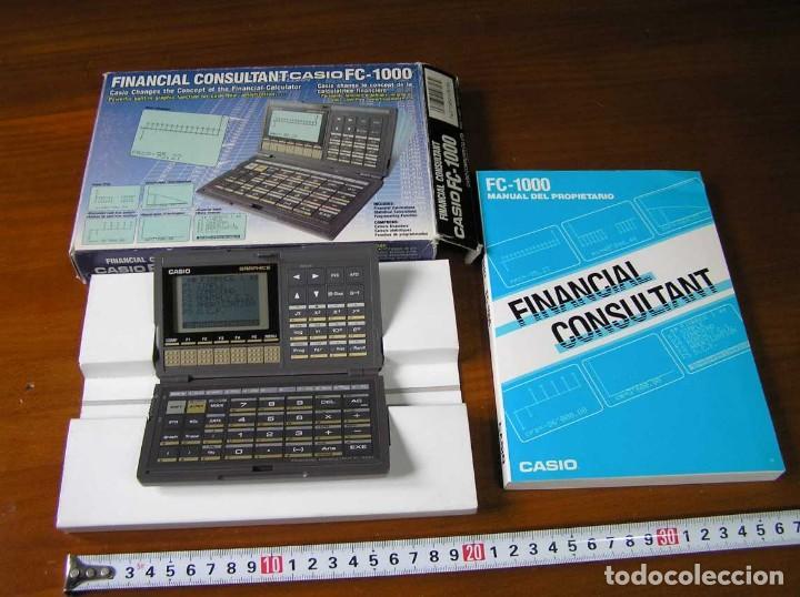 CALCULADORA FINANCIERA ANTIGUA CASIO FC-1000 FC1000 FUNCIONANDO FINANCIAL CONSULTANT FC 1000 (Segunda Mano - Artículos de electrónica)
