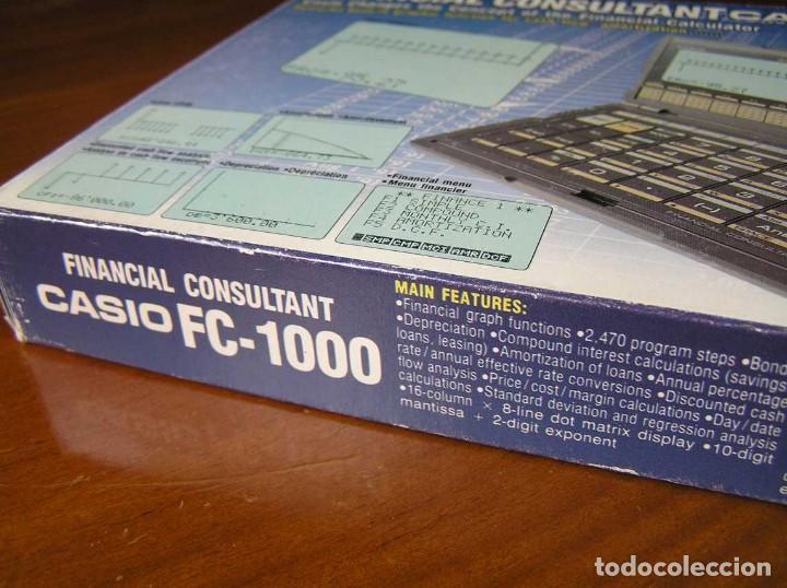 Segunda Mano: CALCULADORA FINANCIERA ANTIGUA CASIO FC-1000 FC1000 FUNCIONANDO FINANCIAL CONSULTANT FC 1000 - Foto 39 - 173508574