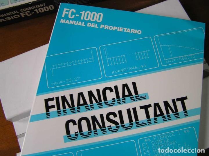 Segunda Mano: CALCULADORA FINANCIERA ANTIGUA CASIO FC-1000 FC1000 FUNCIONANDO FINANCIAL CONSULTANT FC 1000 - Foto 7 - 173508574