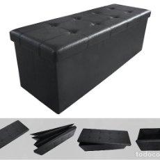 Segunda Mano - CAJÓN-SOFÁ-TABURETE-PLEGABLE-COLOR NEGRO-NUEVO-PRECIOSO-110 x 38 x 38 cm-DE CALIDAD- - 114493223