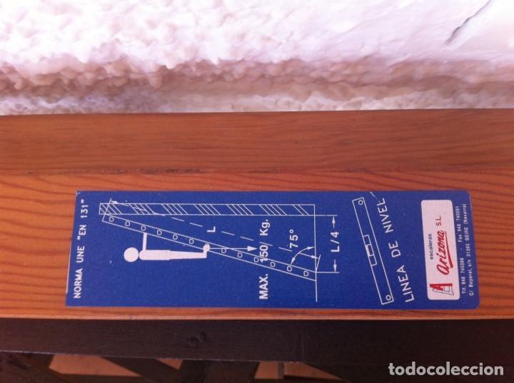 Segunda Mano: Escalera Industrial Electricista Pintor madera extensible hasta 6m. Modelo B12 Arizona. Como nueva. - Foto 3 - 114682503