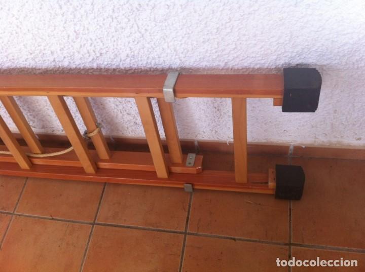 Segunda Mano: Escalera Industrial Electricista Pintor madera extensible hasta 6m. Modelo B12 Arizona. Como nueva. - Foto 5 - 114682503
