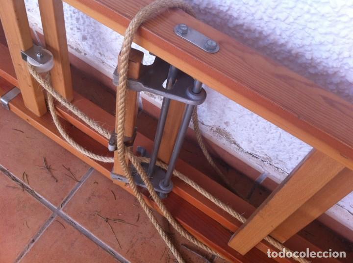 Segunda Mano: Escalera Industrial Electricista Pintor madera extensible hasta 6m. Modelo B12 Arizona. Como nueva. - Foto 8 - 114682503