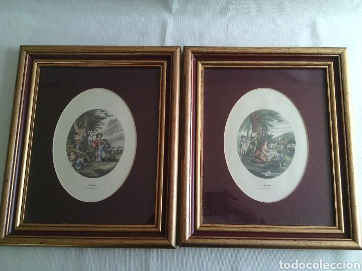 pareja marcos cuadros de madera con laminas.nue - Comprar artículos ...