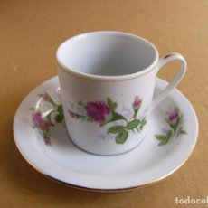 Segunda Mano: TAZA Y PLATO DE PORCELANA CERAMICA CHINA PARA TE O CAFE - CON SELLO CHINA. Lote 115413279