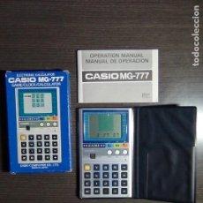 Segunda Mano: CALCULADORA CASIO + GAME MG-777 CON CAJA, FUNDA E INSTRUCCIONES. Lote 116288339