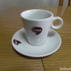 Segunda Mano: TAZA LOZA CAFE BAR - NUEVA - BONKA - CAFE CON LECHE - CUP & SAUCER- MIRA LAS FOTOS, EL CULO ESTRECHO. Lote 138957306