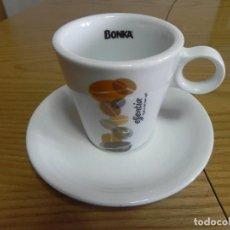 Segunda Mano: TAZA LOZA CAFE BAR - NUEVA - BONKA ESSENTIA - CAFE CON LECHE - MIRA LAS FOTOS, EL CULO ESTRECHO. Lote 117147207
