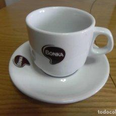 Segunda Mano: TAZA LOZA CAFE BAR - NUEVA - BONKA - CAFE CON LECHE - CUP & SAUCER - BONKA. Lote 117147687