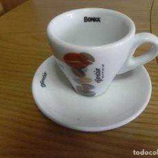 Segunda Mano: TAZA LOZA CAFE BAR - NUEVA - BONKA ESSENTIA - CAFE SOLO O CORTADO - PORTUGAL - COSTA VERDE. Lote 117149375