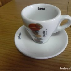 Segunda Mano: TAZA LOZA CAFE BAR - NUEVA - BONKA ESSENTIA - CAFE SOLO O CORTADO - PORTUGAL - COSTA VERDE. Lote 117149495