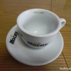 Segunda Mano: TAZA LOZA CAFE BAR - NUEVA - MOCAY - CAFE CON LECHE - GRUPO LECHE PASCUAL. Lote 138958150