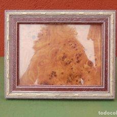 Segunda Mano: MARCO VINTAGE PARA FOTOS DE MADERA CON CORDONCILLO DORADO.. Lote 117156519